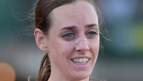 Molly Huddle placed second in the BAA 5K on Saturday in Boston.