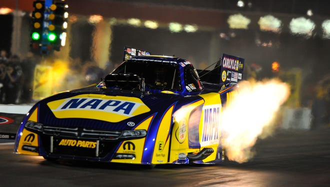 Funny Car driver Ron Capps and the rest of the NHRA Mello Yello Series drivers will return to Norwalk this weekend for the Summit Racing Equipment NHRA Nationals.
