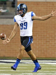 MTSU punter Matt Bonadies is averaging 40.8 yards per punt, and the Blue Raiders are third in C-USA for net punting.