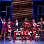 Tiffany Engen and Adam Kaplan star as Lauren and Charlie Price in the national tour of Kinky Boots. Matthew Murphy photo