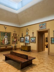 The unusual arrangement of art on the walls makes the Barnes unique. Here is a northwest view of Room 18 of the Barnes Foundation in Philadelphia.