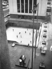 A view from above of the Xerox Square Skating Rink.