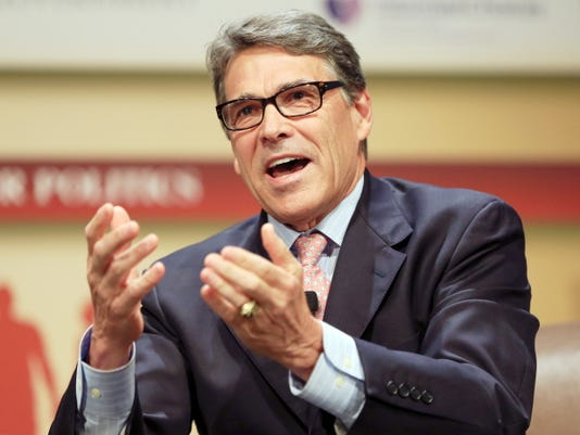 Republican presidential candidate, former Texas Gov. Rick Perry, speaks July 18 at the Family Leadership Summit in Ames, Iowa.