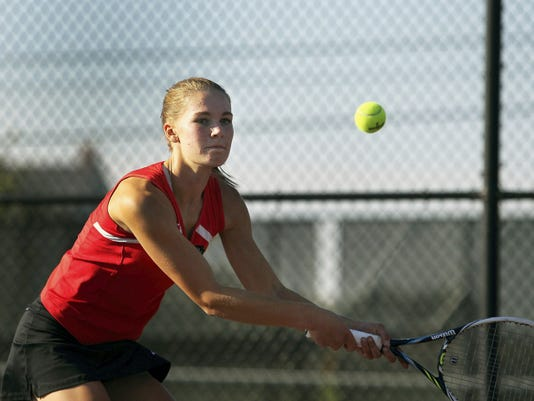 Annville-Cleona's Alicia Hitz was a surprise Class AA league singles finalist last season and is a strong contender for the county singles championship this season.