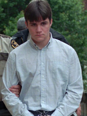 Jason Blake Bryant, 14, is led to the Greene County Courthouse, Wednesday, May 14, 1997 in Greeneville, Tenn., for his preliminary hearing concerning killing  three members of the Lillelid family on April 6, 1997 in Greene County.