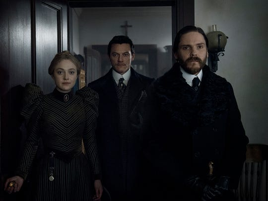 Dakota Fanning, Luke Evans and Daniel Bruhl on 'The Alienist.'