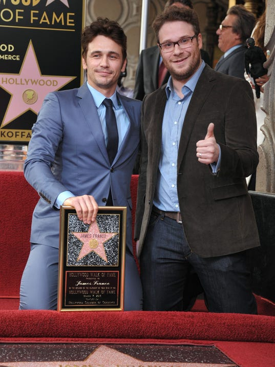AP James Franco Honored with a Star on the Hollywood Walk of Fa