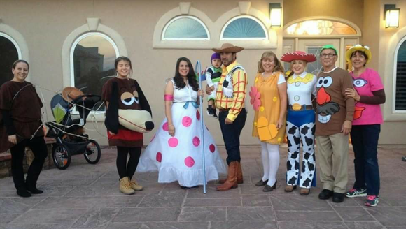 """""""We dressed up as the Characters from Toy Story. Buzz,"""