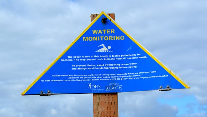 Water monitoring is done at select sites along the Oregon coast, including at Nye Beach in Newport.