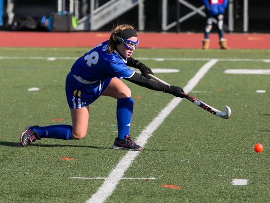 Maine Endwell's Meredith Rose clears the ball Saturday.