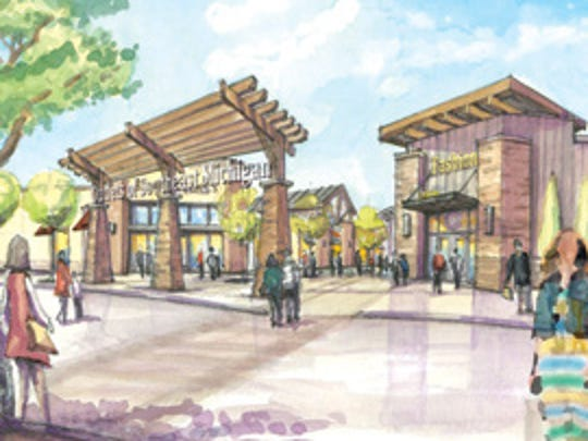 Rendering of the Outlets of Southeast Michigan, slated for groundbreaking in 2016.