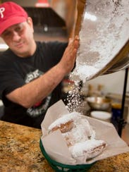 The beignets served at Cajun Kate's have hints of nutmeg