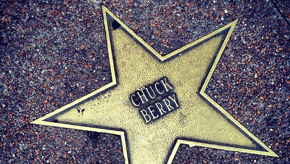 The late Chuck Berry has a star on the St. Louis Walk