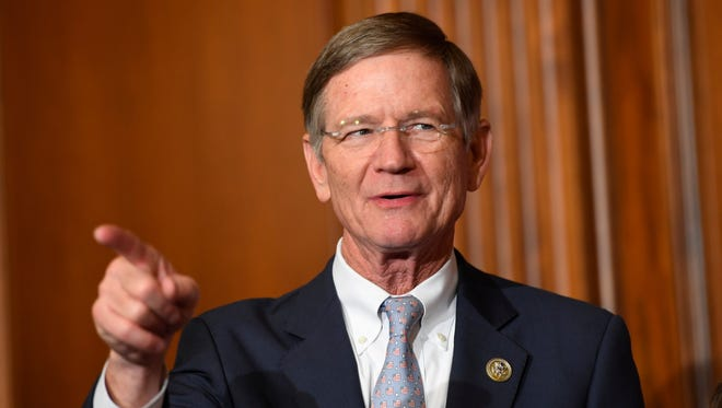 Rep. Lamar Smith, R-Texas, during a ceremonial swearing-in and photo-op during the opening session of the 115th Congress on Jan. 3, 2017, on Capitol Hill in Washington.