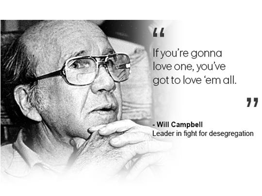 Will Campbell, leader in the fight for desegregation