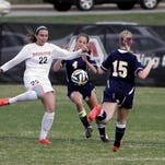 Brighton's Meghan Healy netted a goal in the Bulldogs' 2-1 defeat of Grand Blanc on Thursday.