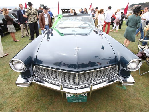 The Wolk's 1956 Lincoln Continental Mark II was on display at the Pebble Beach Concours D'Elegance