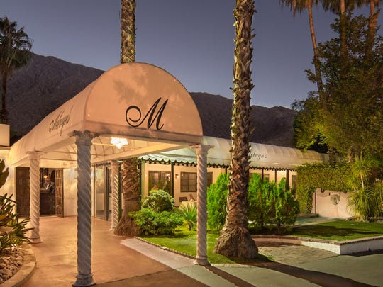 The Ingleside Inn and Melvyn's Restaurant in Palm Springs after renovations and a freshening up.  (Nov. 2017)