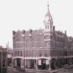 The Masonic Lodge was built in downtown Sioux Falls beginning in 1883.