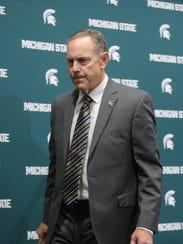 Michigan State football coach Mark Dantonio makes a