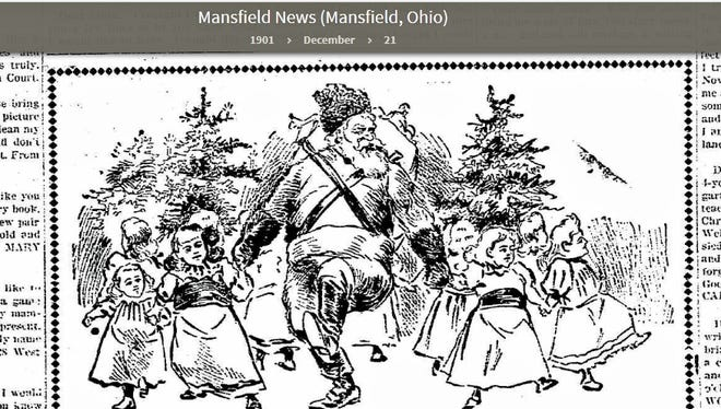 Illustration from the Mansfield News, Dec. 21, 1901