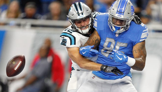 Lions tight end Eric Ebron has battled drop problems throughout his career. He has caught just 13 passes for 102 yards this season.