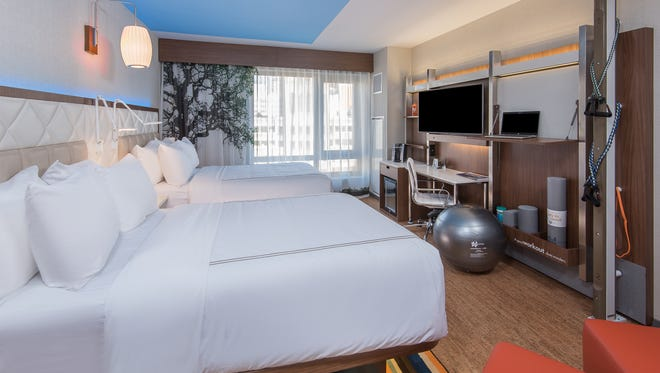 Even Hotels, a brand focused on fitness and wellness, has 15-inch mattresses.