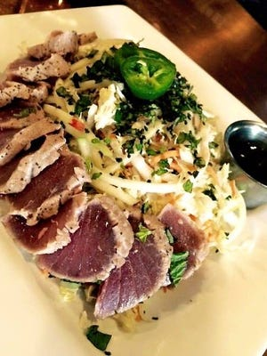 The new location of Antler's offers menu items such as this  kaffir lime tuna salad.