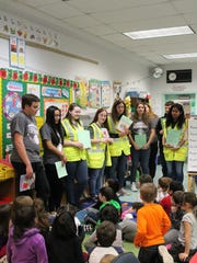 Faber School students learned about safe walking during a visit from Dunellen High School Safety Ambassadors on Jan. 22