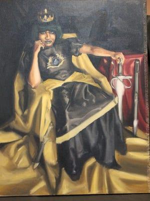 """Prince Ali"" oil by Hecotr Martinez of Jersey City,  winner of Furman Finck Award."