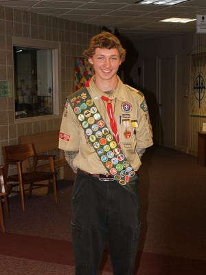 Jacob Schulfer created a reflection/prayer garden at Sacred Heart Cemetery in Polonia as part of earning Eagle Scout designation.