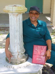 Katherine Washington and her Class of 1964's gift of the sundial.
