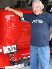 Lester Kyle with his 1932 Ford 5-window coupe.