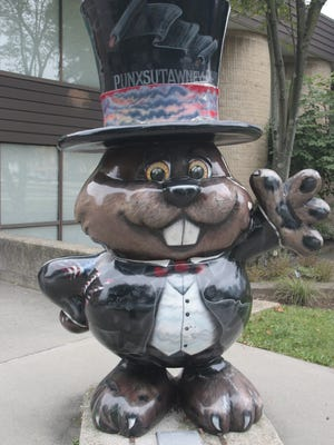 Charming sculptures of Phil are everywhere in Punxsutawney, Pennsylvania.