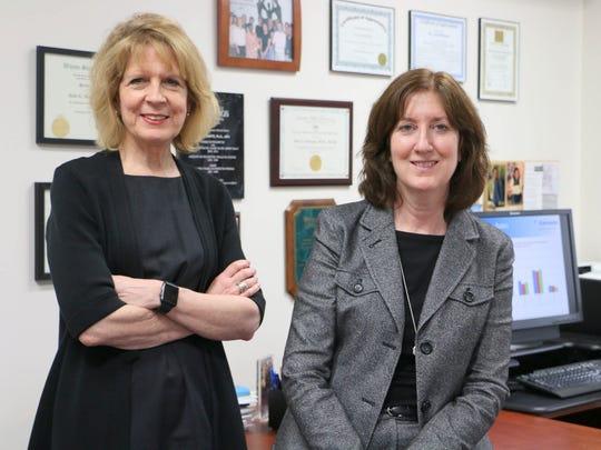 From left, Terrance Albrecht, Ph.D., and Ann Schwartz,