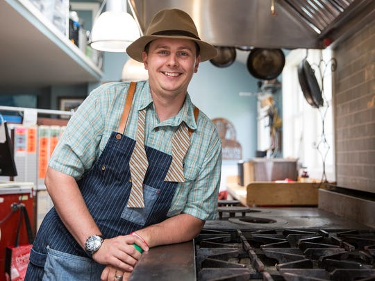 Owner and executive chef Kieron Hales dresses as an