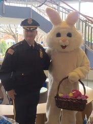 Morris County Sheriff James Gannon and the Easter bunny