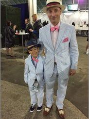 Matt Frantzen of Minneapolis and his 8-year-old son,