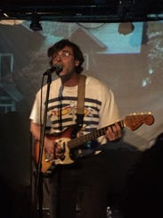 Matt Mondanile performing a show at Monty Hall in Jersey
