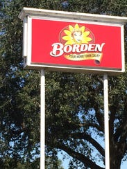 A milk spill at Borden's on Bertrand Drive sent some