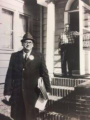 Ralph Boryszewski on the campaign trail in 1972.