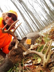 Terri Kent harvested this buck opening day in Waupaca County.
