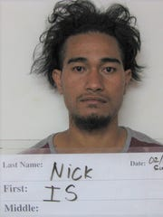 Is Nick, 22, was charged with assault on a peace officer