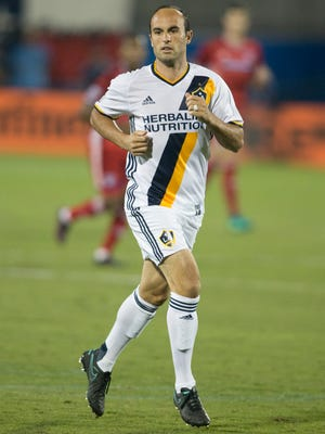 Landon Donovan in action during a 2016 game with the Los Angeles Galaxy.