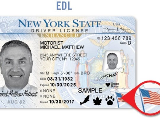 An enhanced driver's license is one of two options