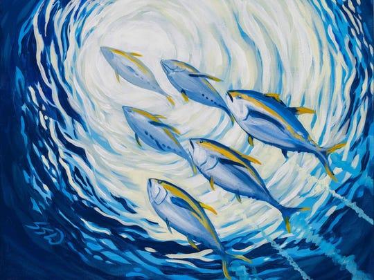 Sarah Soule Webb's artwork for the 2017 Seafood Festival poster