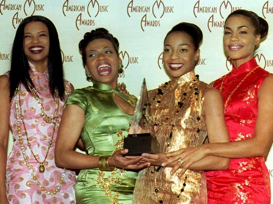 En Vogue (from left): Dawn Robinson, Maxine Jones, Terry Ellis and Cindy Herron at the American Music Awards in Los Angeles in 1993.