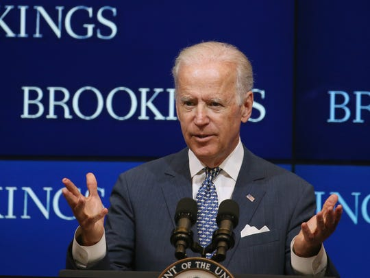 Vice President Joe Biden, speaking at the Brookings