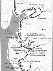 This map shows the withdrawal of the Task Force Faith.