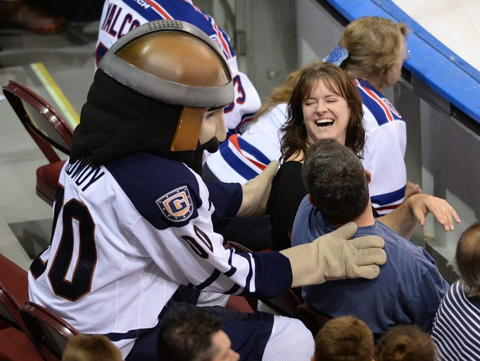 The Greenville Road Warriors host the Wheeling Nailers during the ECHL playoffs Tuesday, May 6, 2014 at the Bon Secours Wellness Arena.